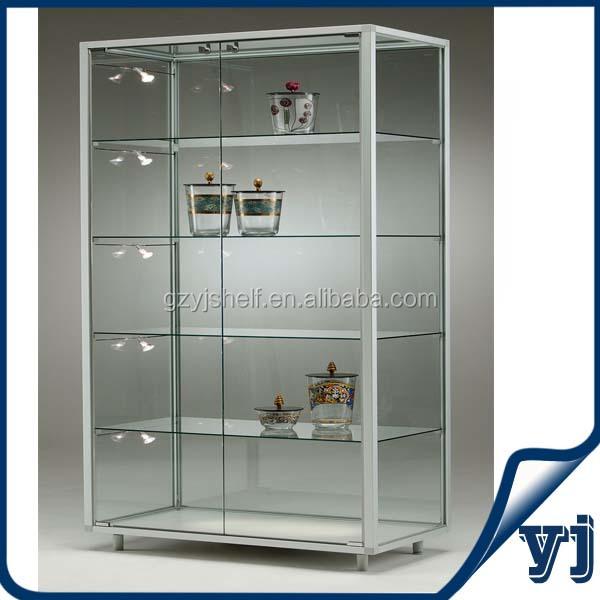 Custom Glass Vitrine Display Cabinet Aluminium Glass Cheap
