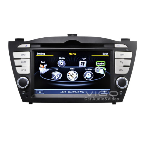 vehicle stereo gps navigation for hyundai tucson ix35 auto. Black Bedroom Furniture Sets. Home Design Ideas
