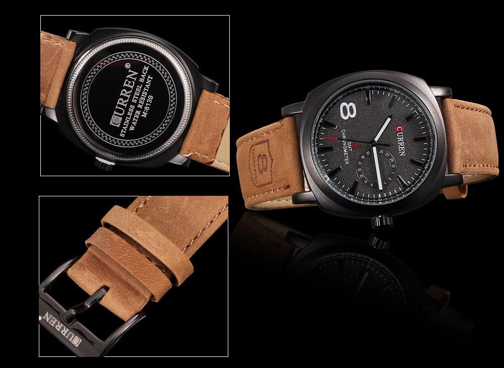 36c6dda5c5 Relógio Curren M8139 Masculino Pulseira de Couro