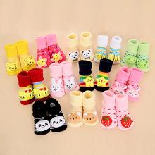 18 Style Lovely Cute Newborn Baby Socks Animal Cartoon Infant Socks Model Anti slip Boys Girls