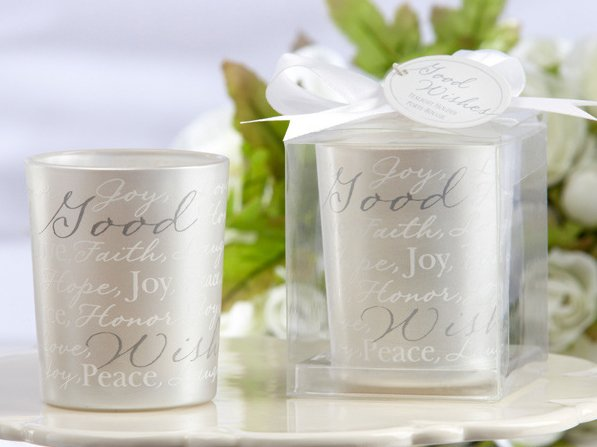 Candle Wedding Gift: Wholesale Wedding Favors Gifts/ Silver Printing Words Cup