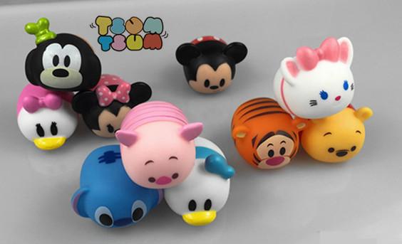 10PCS/LOT TSUM TSUM Cute Mini Winnie Mickey Mouse Stitch