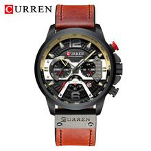 Мужские часы-хронограф CURREN, синий и золотой цвета, водонепроницаемые механические кварцевые часы, спортивные наручные часы, 2020(Китай)