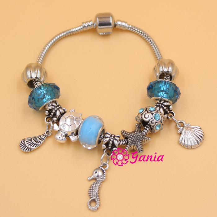 Inexpensive Charm Bracelets: Popular Seashell Charm Bracelet-Buy Cheap Seashell Charm