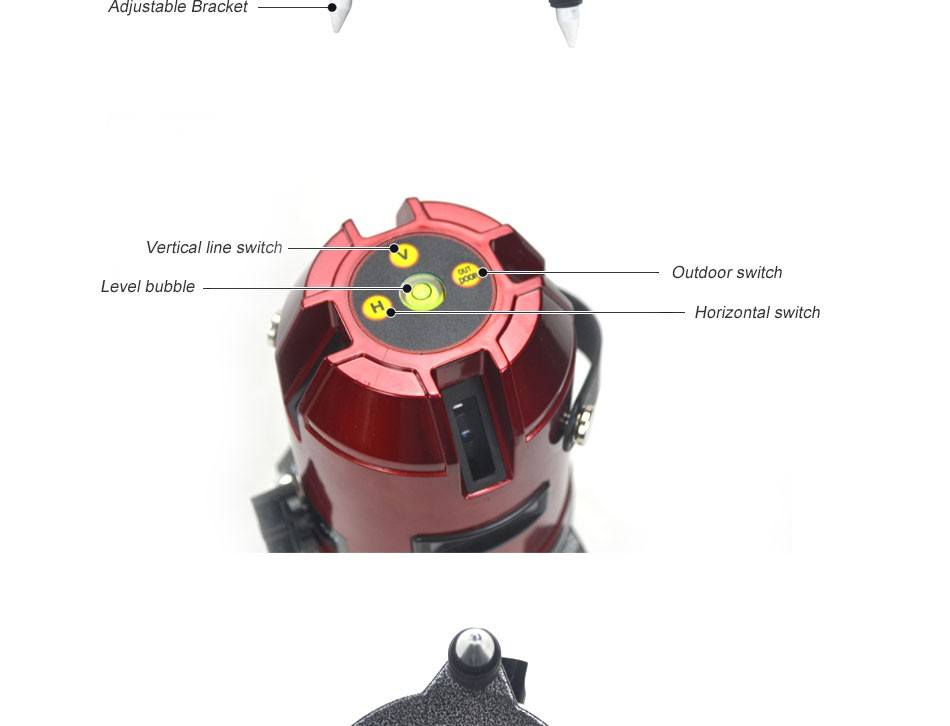 Deko 5 Lines 6 Points Laser Level 360 Rotary Cross Laser