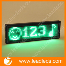 Free Shipping 2sets rechargeable and USB Green color led name tag Promotion One-year warranty