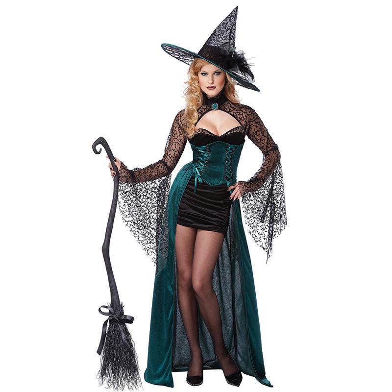 Traje de Halloween feiticeira adolescente