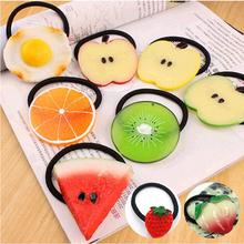 New Style Verão Muitos Padrões de Frutas Fatia Moda Acessórios de Cabelo para Meninas Mulheres Elastic Faixas de Cabelo Elásticos Headwear