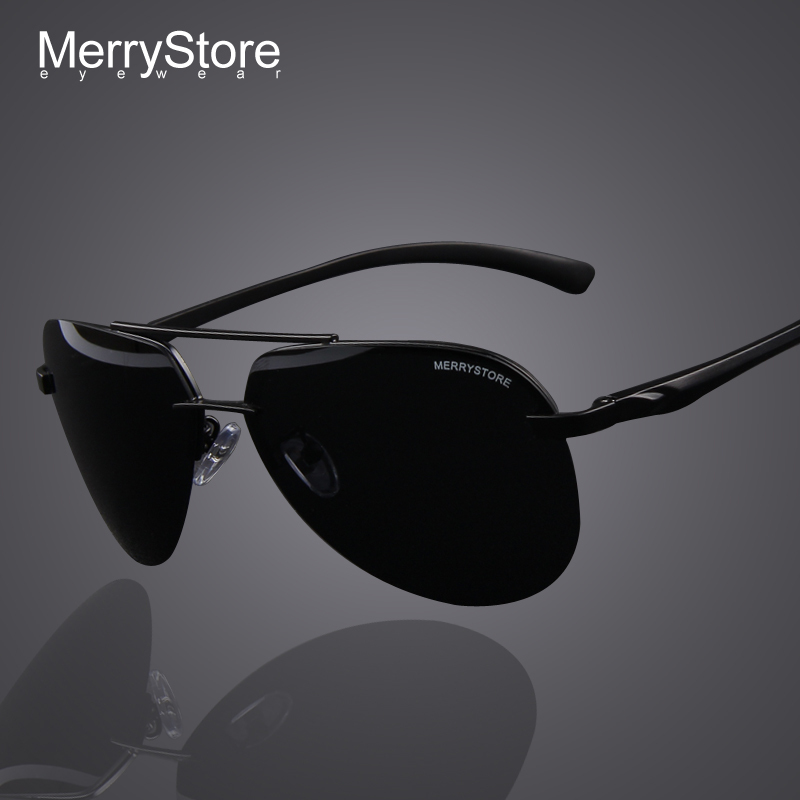 MERRYSTORE Brand Men 100 Polarized Aluminum Alloy Frame Sunglasses Fashion Men s Driving Sunglasses High quality