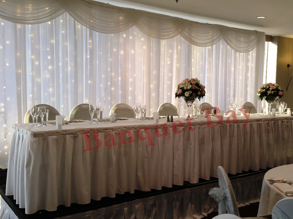 Cheap Price Wedding Backdrop Curtain With Led Lights-in