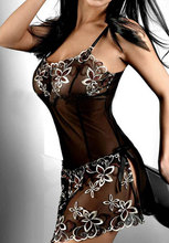 Essential embroidery Sexy Lingerie lady print perspective lure pajamas women underwear