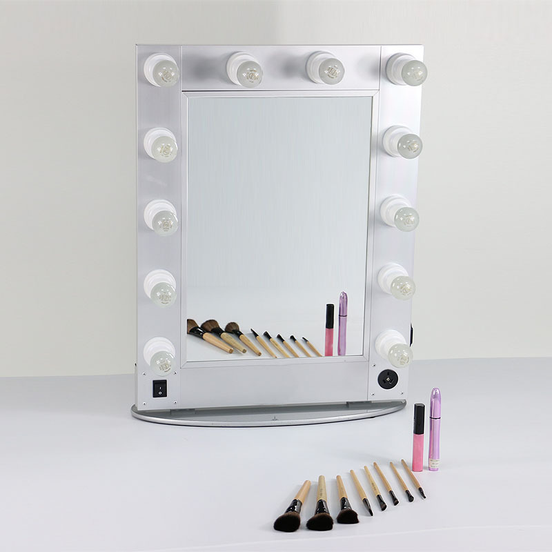 silver and black hollywood style mirror professional makeup mirror makeup artist mirror 12pcs. Black Bedroom Furniture Sets. Home Design Ideas