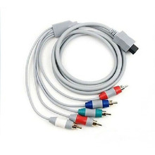 HDTV Component AV Audio Video Cable 5RCA Cord Adapter for Nintendo Wii Composite Wire+Tracking number