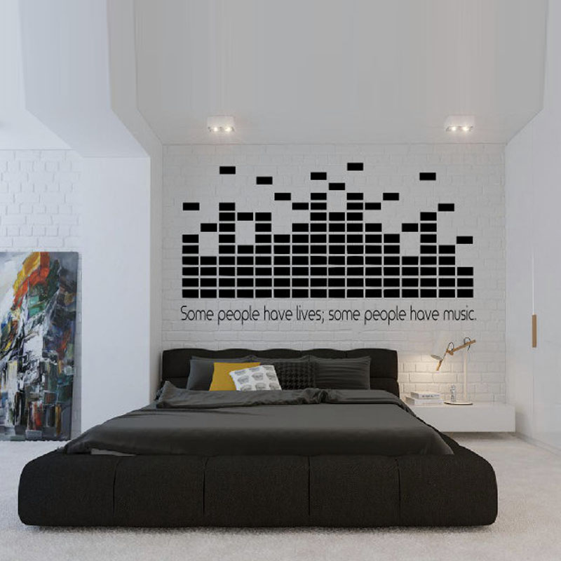 Popular dj wall decal buy cheap dj wall decal lots from - Cheap wall decals for living room ...