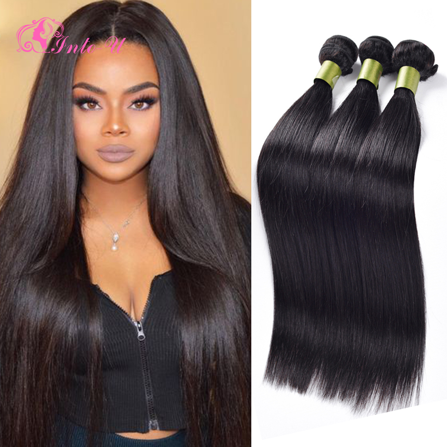 7A Unprocessed Malaysian Virgin Hair Straight 3 Bundles ...