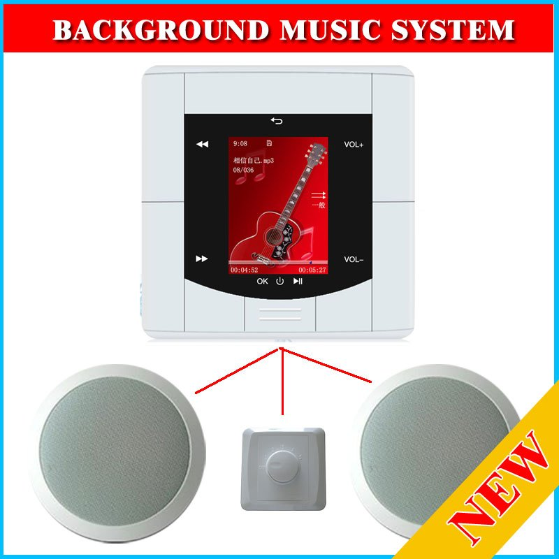 Background Music System 2 Ceiling Speaker Usb Ci Card For
