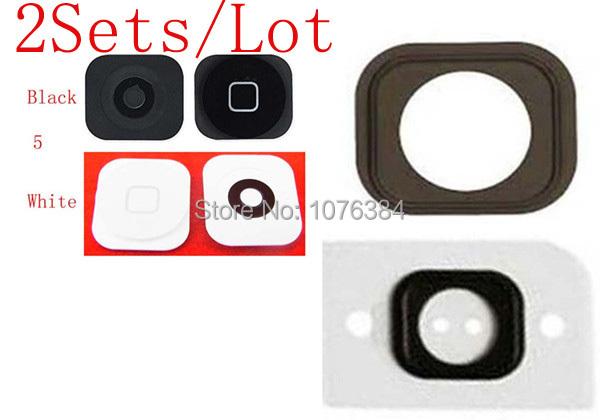( 5G506B02AM ) ( 2 компл./лот а . м . ) 100% Высокое качество гарантия на iPhone 5 5 г главная кнопка и резиновая прокладка
