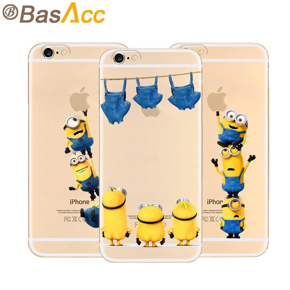 quality design b2b1a 3fa96 Original Fashion Despicable Me Yellow Minions Design Phone Cases For iPhone  6s 6 Case 4.7 inch with Pro-environment TPU