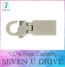 100% real capacity New 2015 Metal Mini 180 degrees usb gadget 16GB 32GB USB 2.0 memory pendrive flash 512GB card drive128GB/gift