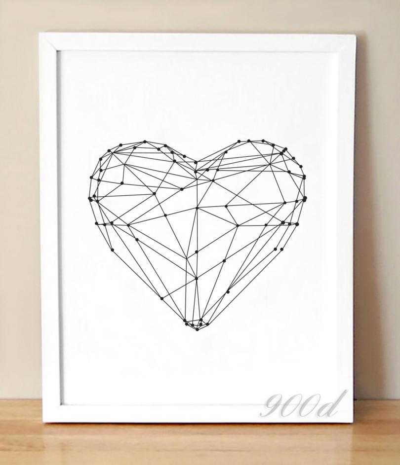Heart Shape Canvas Art Print
