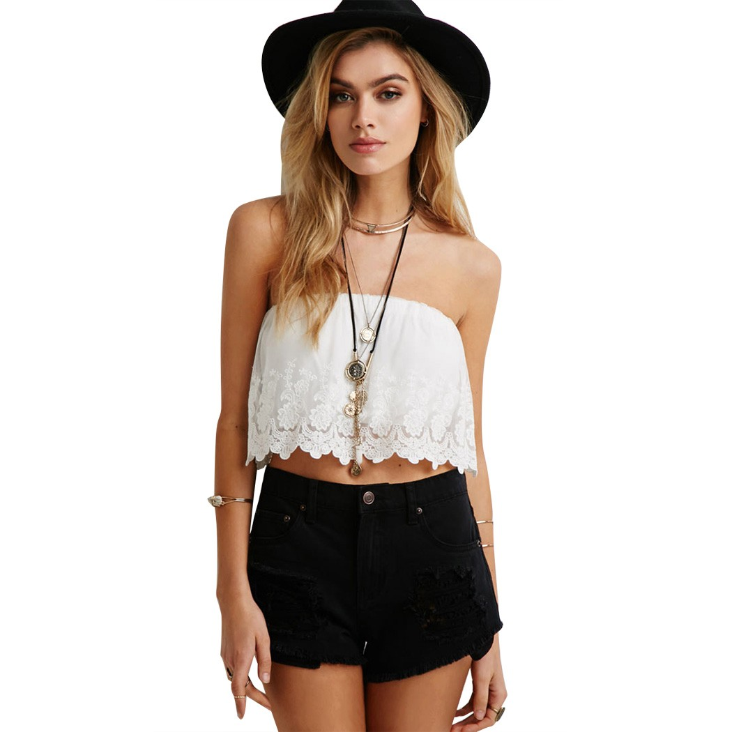 Hot Sale 2015 Summer Women Sexy Wrapped Chest Tops ...