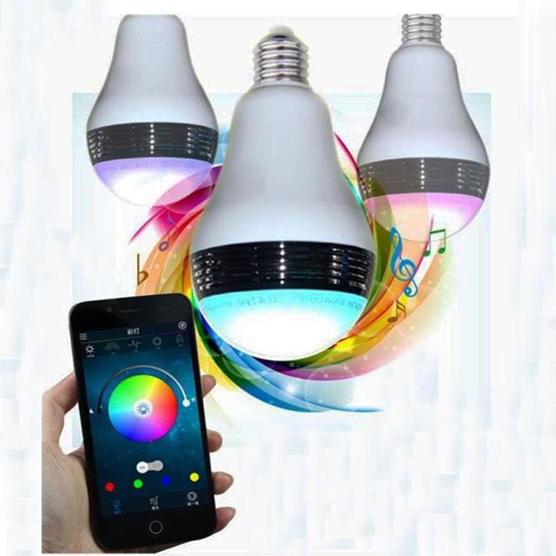 Smart Rgb Bulb Bluetooth 4 0 Audio Speakers Lamp Dimmable