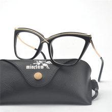 MINCL/Женские Простые брендовые дизайнерские очки кошачьи оправы прозрачные линзы оптические очки модные очки NX(Китай)