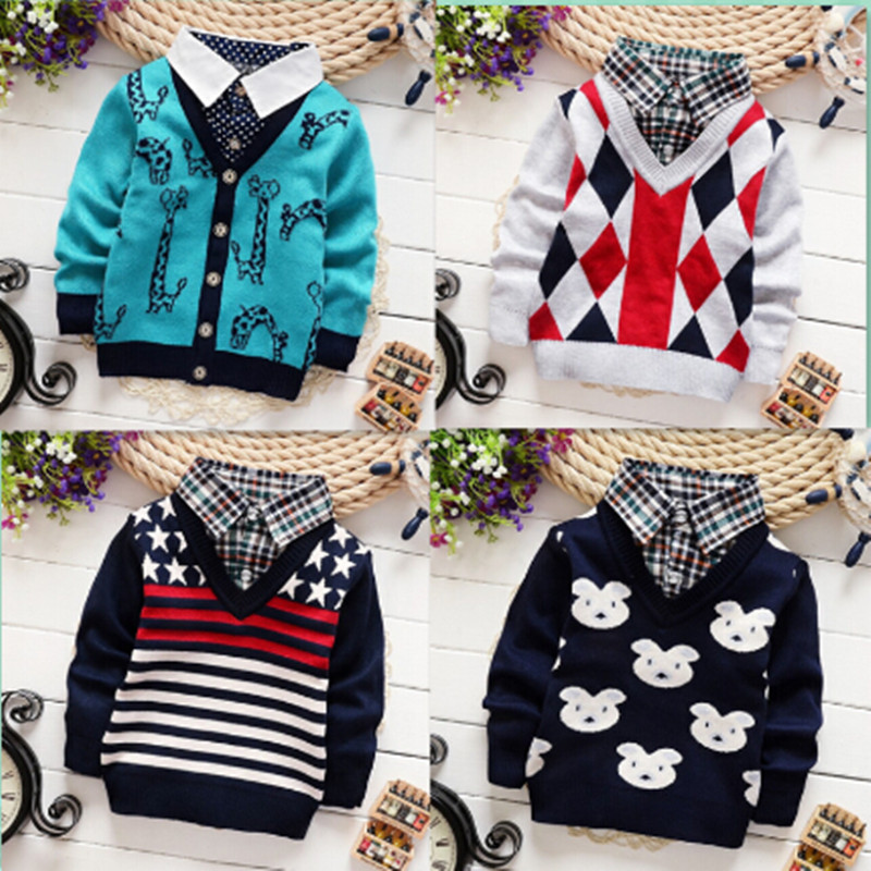 e08c05e8a82 Children Sweaters Shirts baby boys knitted sweater jacket 2015 New ...