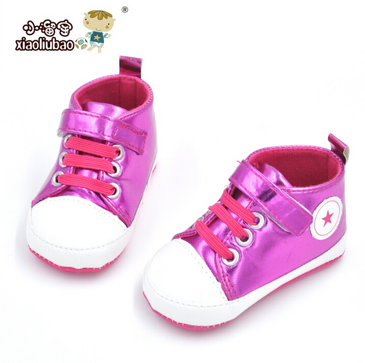 3 Colors 2016 Classic Pink Bling Baby Shoes Cotton 11cm 12cm 13cm 14cm Boy And Girls Toddler Shoes First Walkers Helloyaya