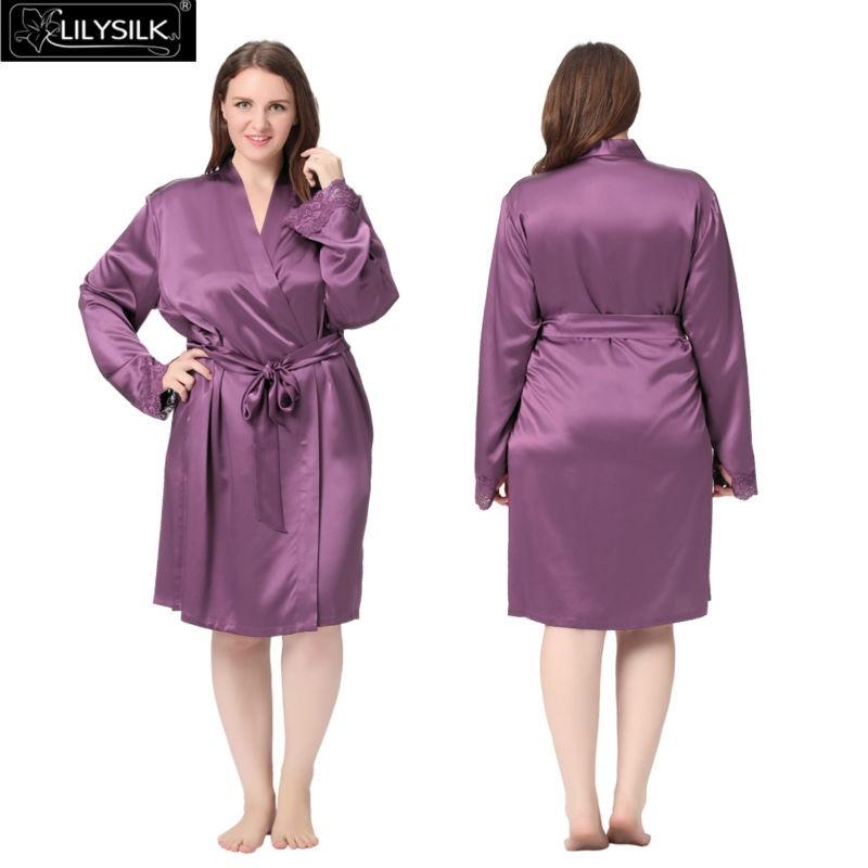 c1f587454476e Acheter Vente En Gros Lilysilk 100% Pure Soie Robe Femmes Plus La ...