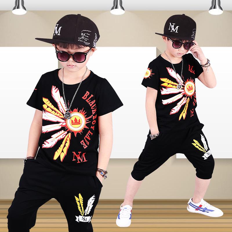 ea0e8b39767 Cool Boys T Shirts Pant Dancewear Hiphop Sets Kids Street Dance Clothes  Kids Hip Hop Costumes Dance Wear Children Sport Suits