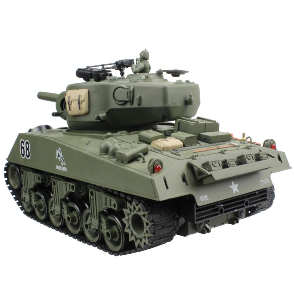 RC Tank USA Sherman M4A3 Main 15 Channel 1/16 RC Battle Tank Model