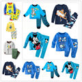 2016 clothes girls baby kids boys children clothing sets suits pajamas for boys 2 piece sleepwear