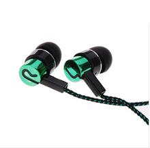 Earphones Jack Standard Noise Isolating 1 1M Reflective Fiber Cloth Line 3 5mm Stereo In ear