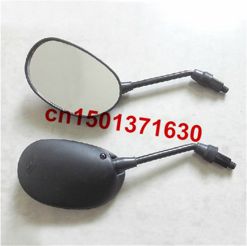 M10 пластик мотоцикл зеркало заднего вида DY100 черного цвета с 10 мм по часовой стрелке болты