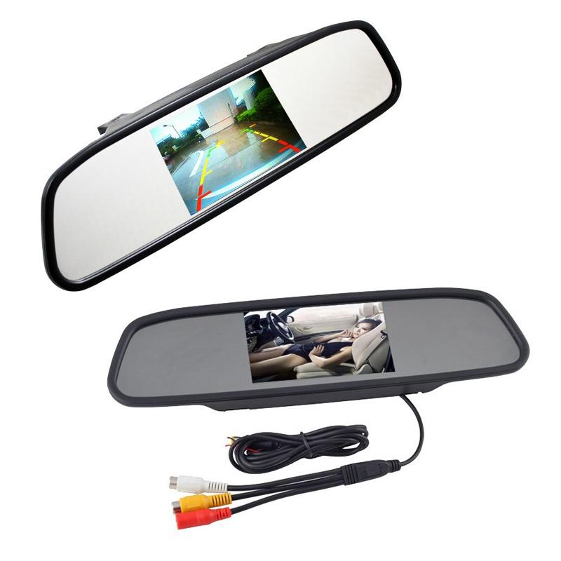 Автопарк помощь система 2 в 1 4.3 TFT жк-зеркало парковка монитор + 170 градусов мини-автомобиля камера заднего вида
