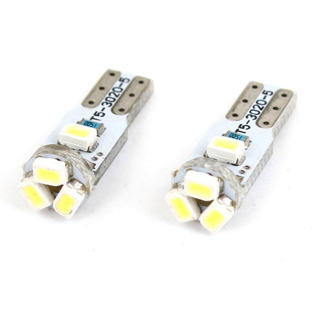 T5 1206 СМД 5 из светодиодов белый лампы приборной панели лампочка 2 шт. для автомобилей и приборов загорается