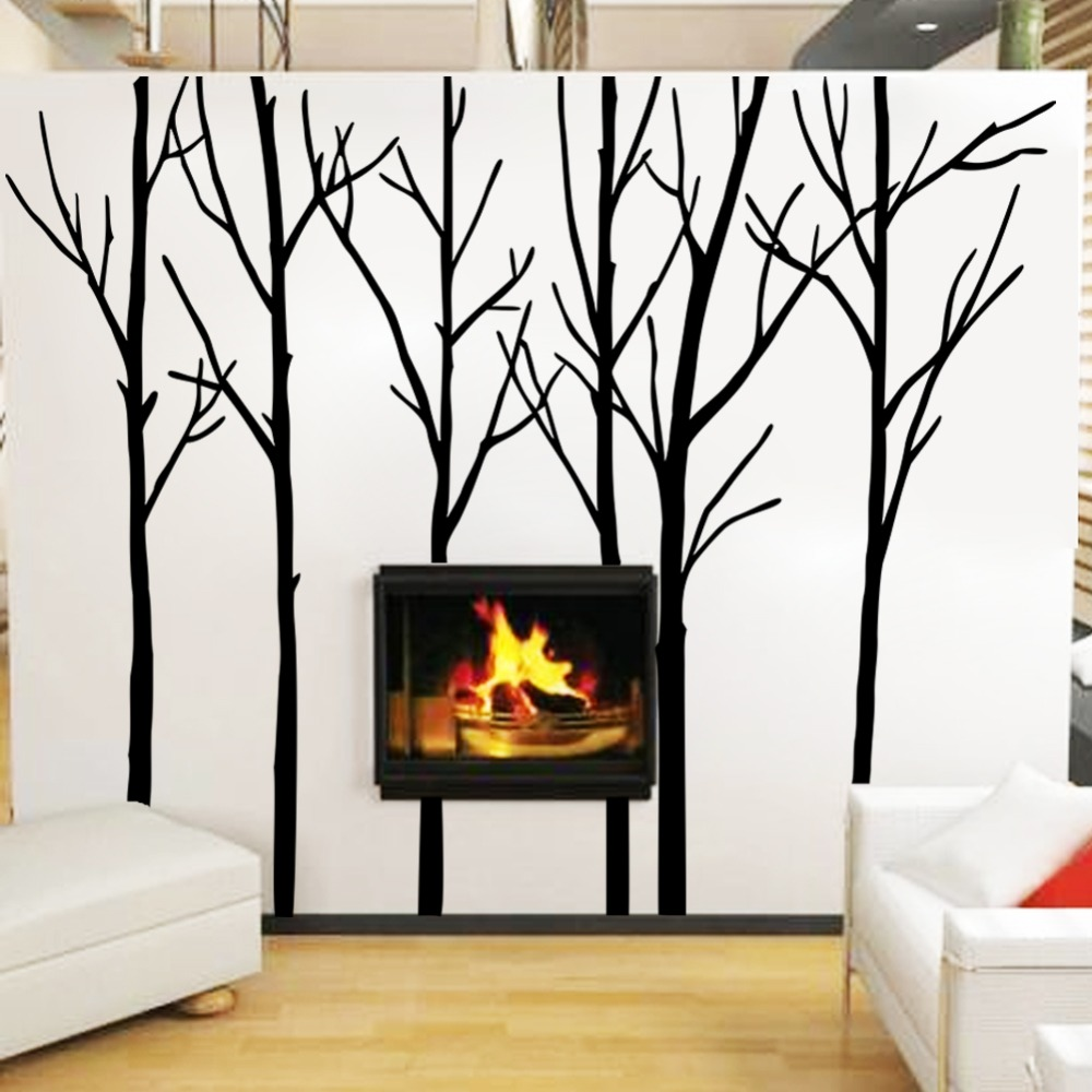 Cozy&Homy Winter Tree Wall Decal Forest Vinyl Wall Art