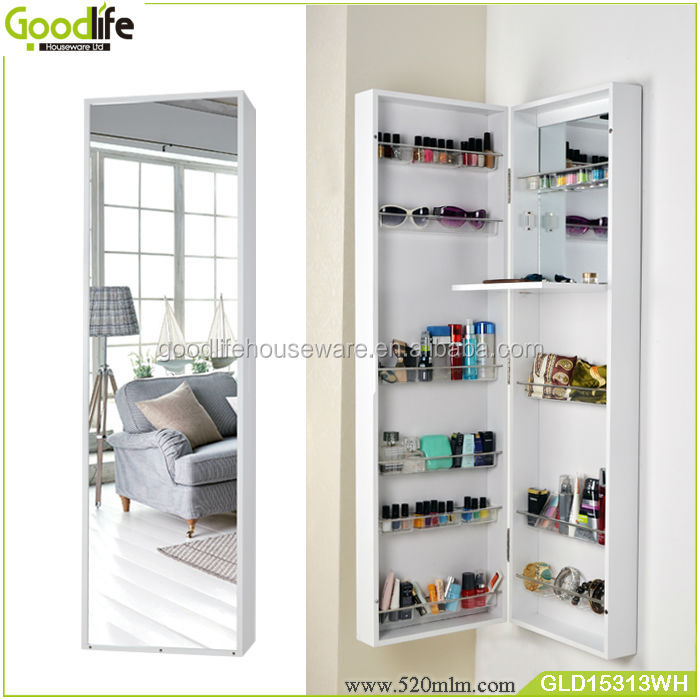Wooden Makeup Cabinet Furniture Free Standing Mirror
