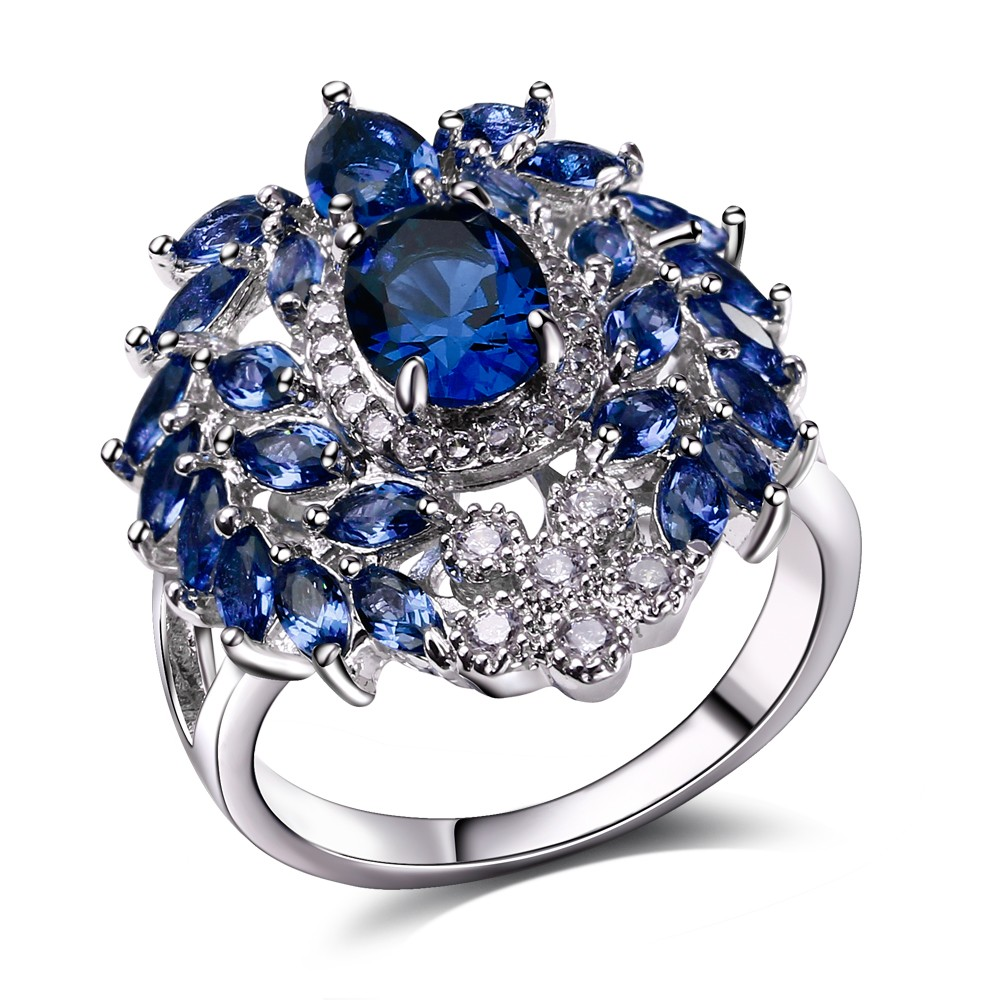 nice fashion women engagement rings aaa quality cubic zirconia pave setting ladies wedding party. Black Bedroom Furniture Sets. Home Design Ideas