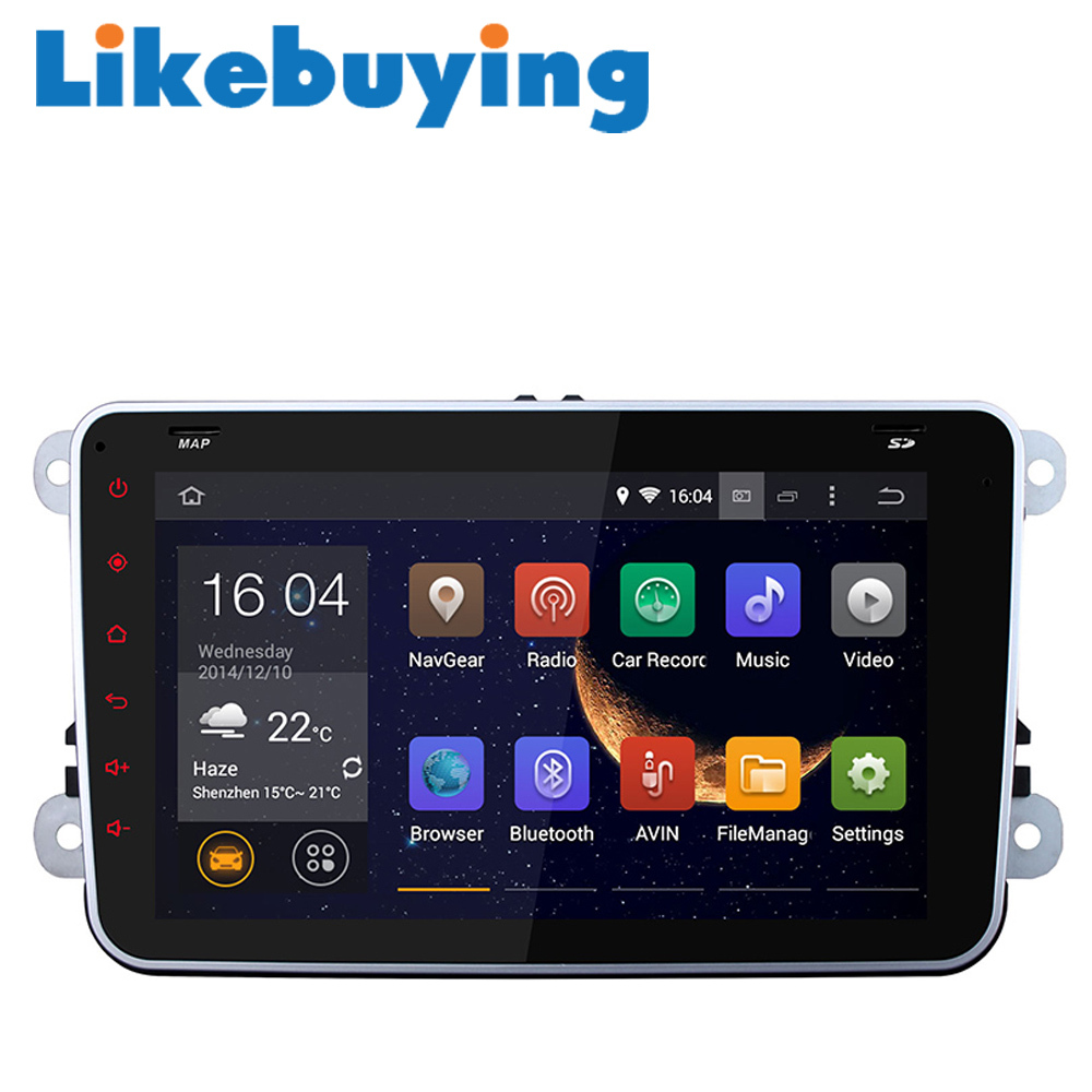 8 car 2 din android autoradio gps audio player navigation for vw volkswagen polo passat jetta. Black Bedroom Furniture Sets. Home Design Ideas