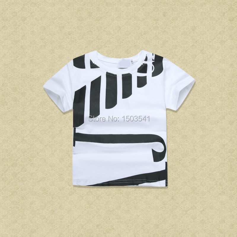 2016 New letter design Baby boy kids fashion Brand design short sleeve top quality boy t