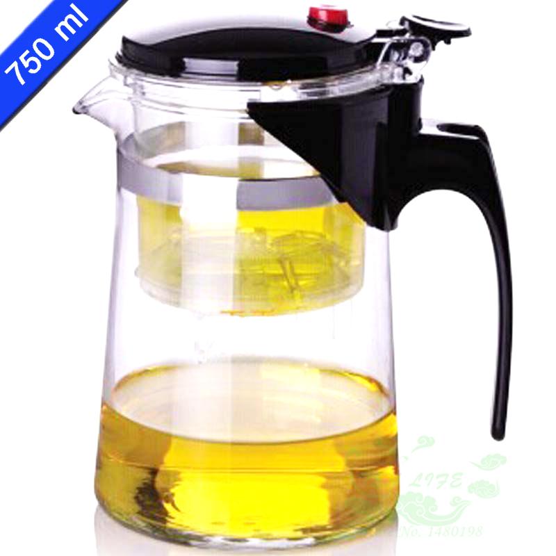 New Design Tea Pot 750ml Simple Kettle Teapot Heat Resistan Gl Convenient Office Set