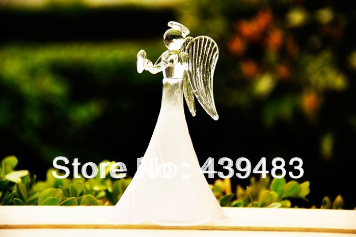 Wedding Angels Decorating Ltd: Creative Design White Frosted Blessing Angel Angel Elegant