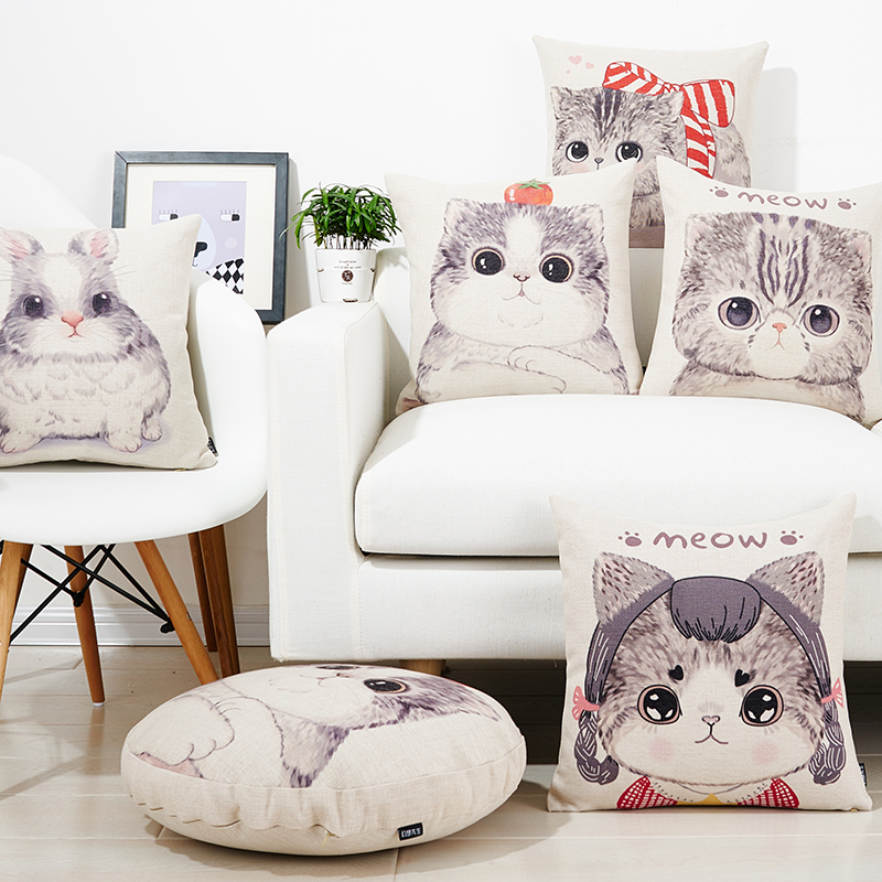 Free shipping pet cat Cushions For Sofas soft and cozy Cushions Home Decor cute cartoon bunny Decorative Cushion Covers