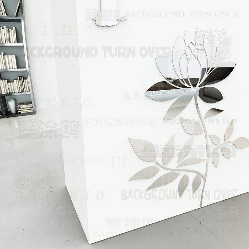 DIY Spring nature single plant flower sakura wall stickers for sofa wall corner home decor for bar cafe living room ML-069
