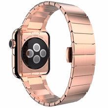 Ремешок для часов, из нержавеющей стали для Apple Watch Series 5 4 3, 38, 40, 42, 44 мм(Китай)