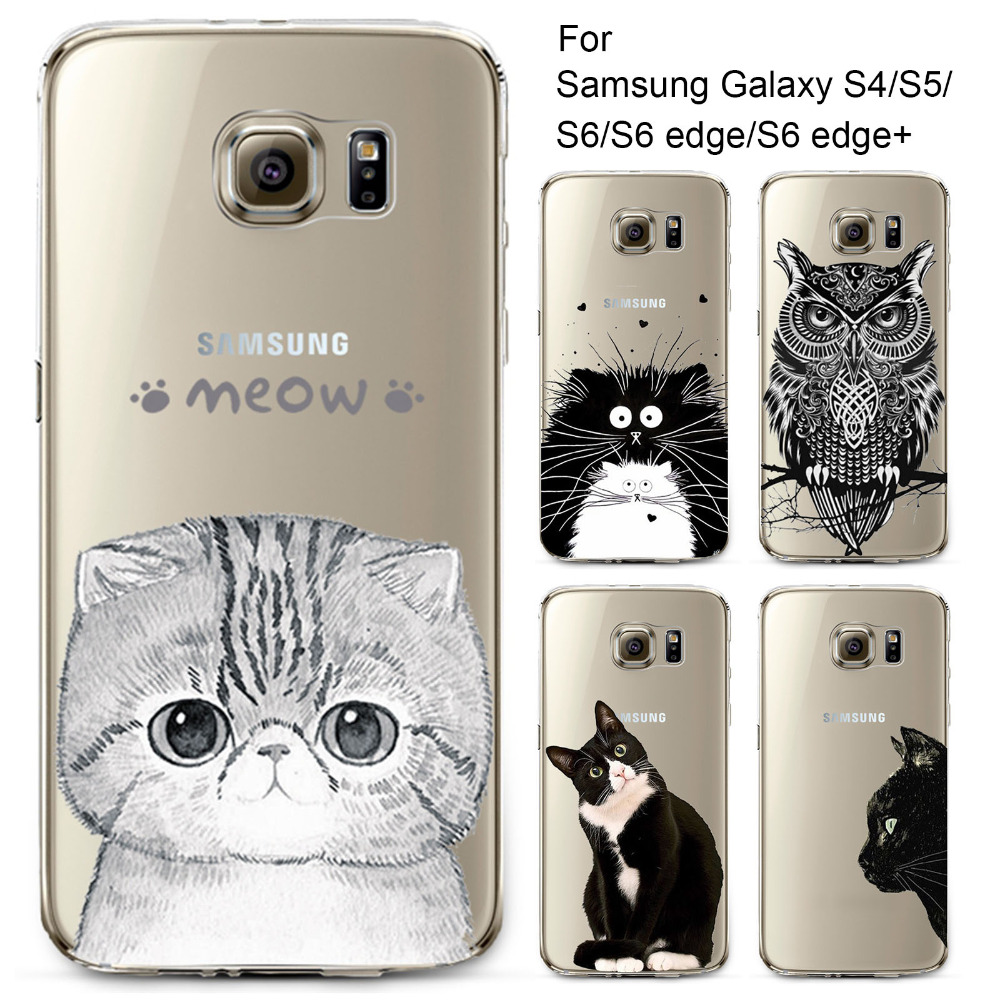 Phone Case for Samsung Galaxy S4 S5 S6 S6Edge S6Edge Soft TPU Silicon Transparent Thin Cover