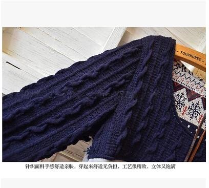 Rl t978 осень и зима вязаный пэчворк цветочный принт о-образным вырезом мода беременная женщина толстовка беременным одежда верхняя одежда