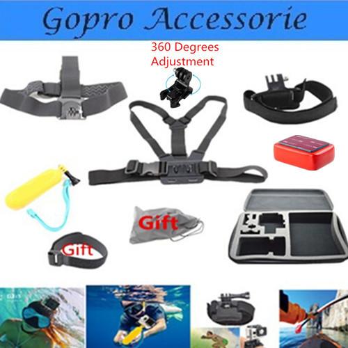 Для Gopro аксессуары установить поплавок плавающей груди ремень глава крепление ремешка с чехол Go pro герой 3 4 Hero4 Sj4000 Xiaomi YI Sjcam